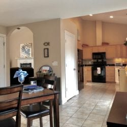 A glimpse of the large Kitchen + spacious Great Room