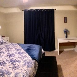 The large Master Suite has a computer desk, USB port, and two closets.